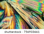 citric acid crystals in... | Shutterstock . vector #756933661