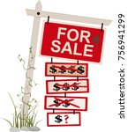 """for sale"" sign with multiple... 