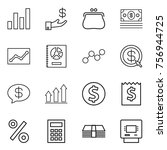 thin line icon set   graph ...   Shutterstock .eps vector #756944725