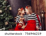 merry christmas and happy... | Shutterstock . vector #756946219