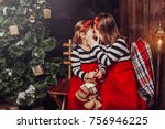 merry christmas and happy... | Shutterstock . vector #756946225