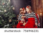 merry christmas and happy... | Shutterstock . vector #756946231