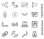 thin line icon set   share ... | Shutterstock .eps vector #756947875