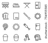 thin line icon set   air... | Shutterstock .eps vector #756955585