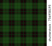 christmas and new year tartan... | Shutterstock .eps vector #756958195