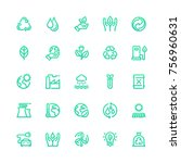 set of eco related vector line... | Shutterstock .eps vector #756960631