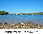 view to village of osor on cres ... | Shutterstock . vector #756969874