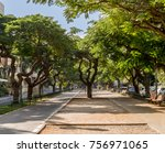 landscape of boulevard... | Shutterstock . vector #756971065