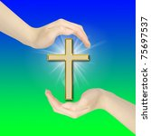 hand gestures with cross | Shutterstock . vector #75697537