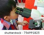 the black hair asian boy... | Shutterstock . vector #756991825