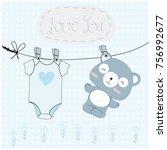 Vintage Cute Teddy Bear Blue...