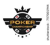 poker championship emblem. | Shutterstock .eps vector #757001944