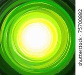 Paint Green Circle Arcs...