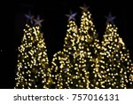 love bokeh on christmas day | Shutterstock . vector #757016131