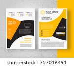 brochure design template  flyer ...   Shutterstock .eps vector #757016491