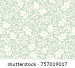 Seamless lime background with light pattern in baroque style. Vector retro illustration. Ideal for printing on fabric or paper.