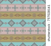 colorful  tribal vector pattern.... | Shutterstock .eps vector #757028161
