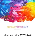 Abstract Acrylic Painted...