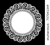 lace round paper doily  lacy... | Shutterstock .eps vector #757041349