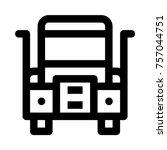 heavy duty truck | Shutterstock .eps vector #757044751