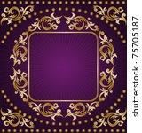vintage frame from the golden... | Shutterstock .eps vector #75705187