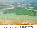patterned surface of the dead... | Shutterstock . vector #757052374