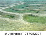 patterned surface of the dead... | Shutterstock . vector #757052377