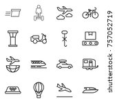 thin line icon set   delivery ... | Shutterstock .eps vector #757052719