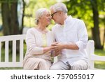 old age  relationship and... | Shutterstock . vector #757055017