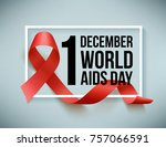 world aids day | Shutterstock . vector #757066591