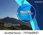 abstract vector modern brochure ... | Shutterstock .eps vector #757068907