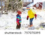 Kids Playing With Snow....