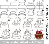 kid game to develop drawing... | Shutterstock .eps vector #757074319