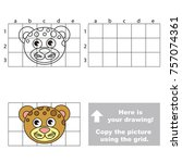 copy the horizontal picture... | Shutterstock .eps vector #757074361