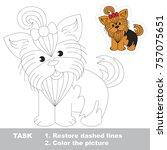 dog yorkshire terrier pappy.... | Shutterstock .eps vector #757075651