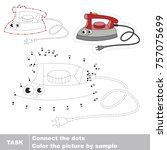 funny iron. dot to dot... | Shutterstock .eps vector #757075699