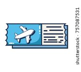 airplane ticket document to... | Shutterstock .eps vector #757087531