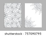 templates for greeting and... | Shutterstock .eps vector #757090795