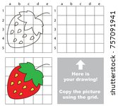 copy the picture using grid... | Shutterstock .eps vector #757091941