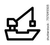 floating crane ship | Shutterstock .eps vector #757095505