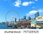 seattle pier  seattle  june... | Shutterstock . vector #757105525