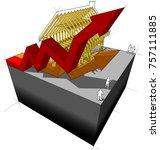3d illustration of construction ... | Shutterstock . vector #757111885