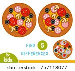 find differences  education... | Shutterstock .eps vector #757118077