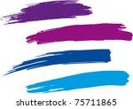 strokes of a paintbrush raster... | Shutterstock . vector #75711865