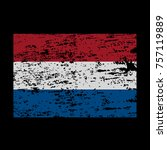 grunge flag of netherlands.... | Shutterstock .eps vector #757119889