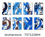 musical backgrounds for posters.... | Shutterstock .eps vector #757122844