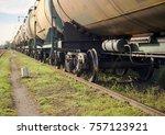 freight train stalled  | Shutterstock . vector #757123921