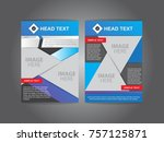 brochure and triangle and blue... | Shutterstock .eps vector #757125871