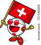 switzerland soccer ball mascot | Shutterstock .eps vector #757130005