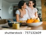 mother and daughter   Shutterstock . vector #757132609